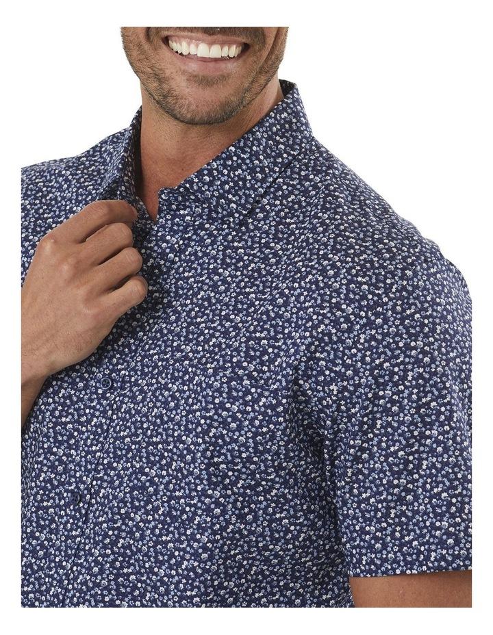 Tailored Smart Multi Floral Print Short Sleeve Shirt image 3