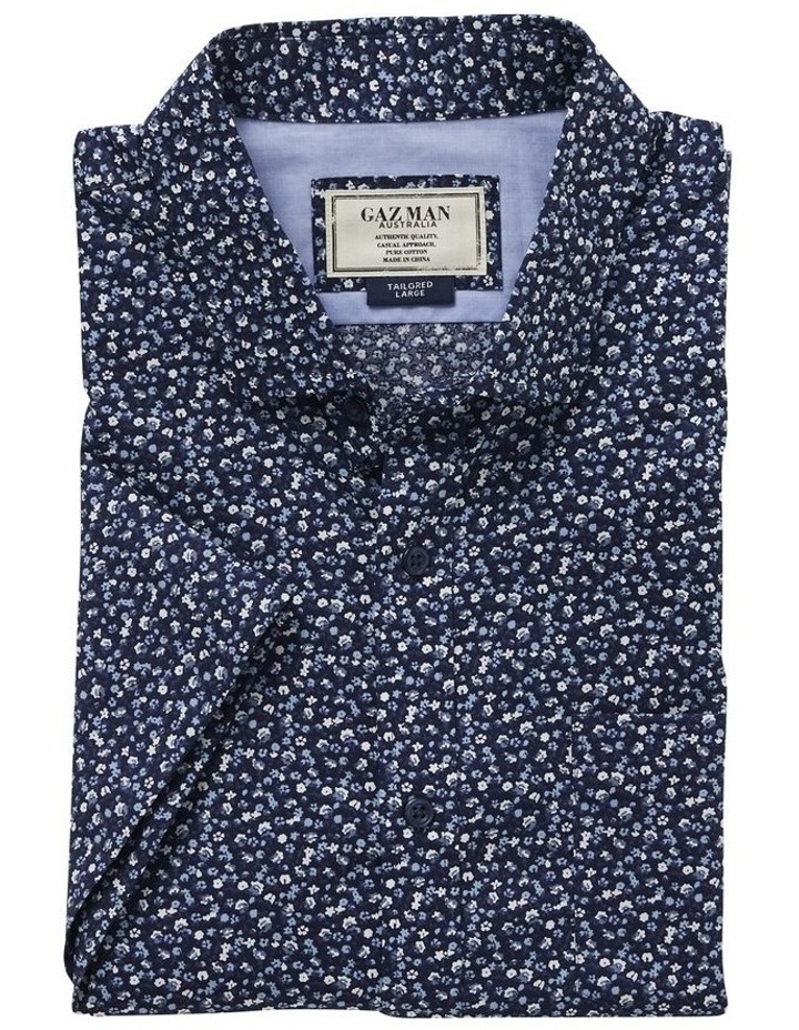 Tailored Smart Multi Floral Print Short Sleeve Shirt image 4