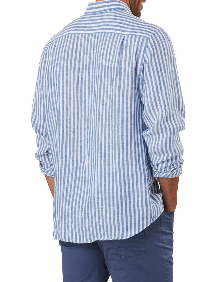 Pure Linen Bengal Stripe Long Sleeve Shirt image 2