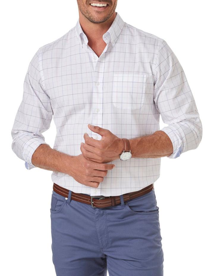 Easy Care Melange Fine Check Long Sleeve Shirt image 1