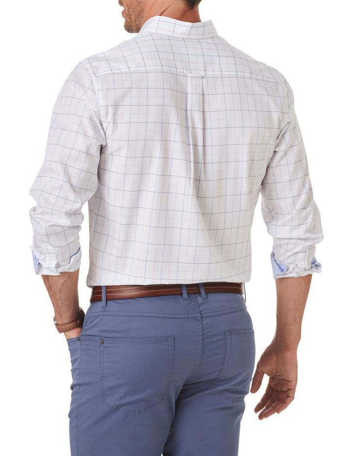 Easy Care Melange Fine Check Long Sleeve Shirt image 2