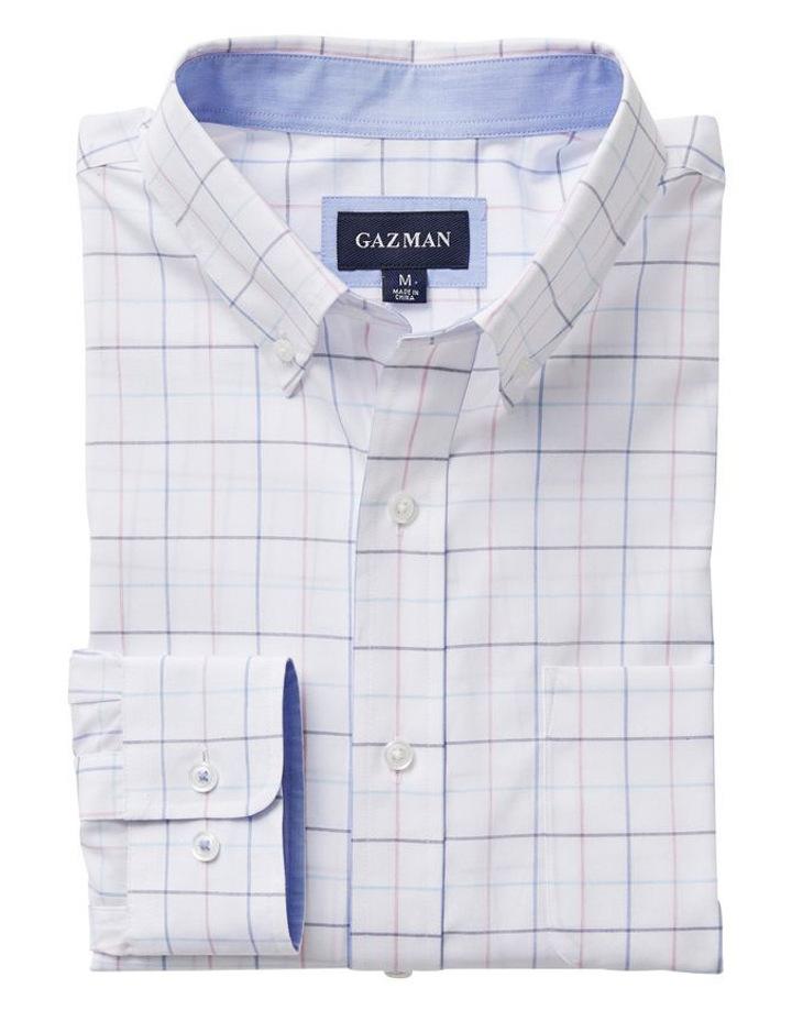 Easy Care Melange Fine Check Long Sleeve Shirt image 4