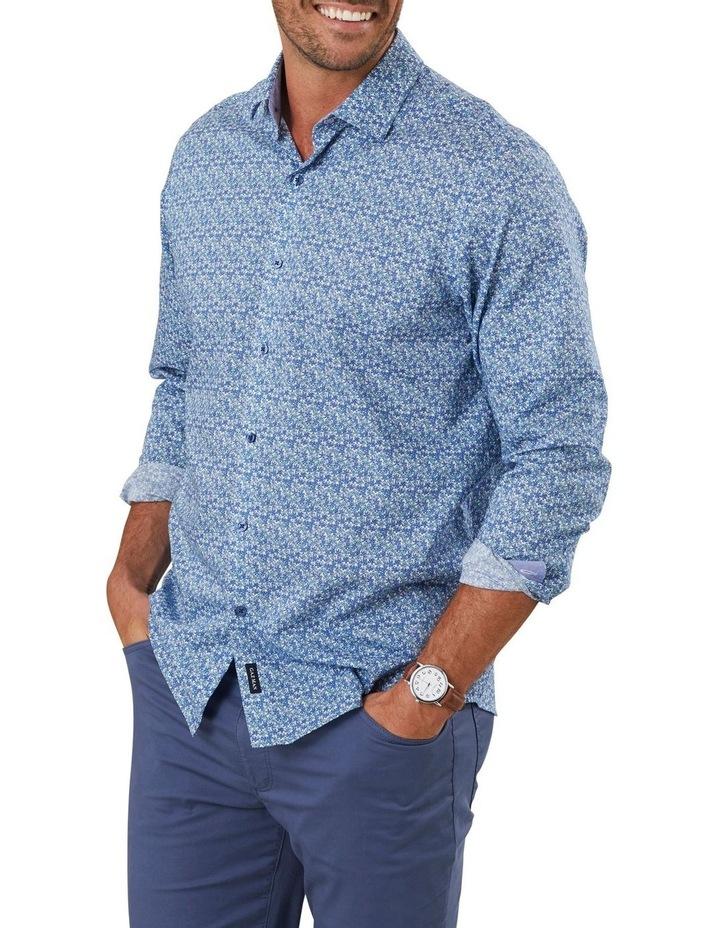 Smart Stripe Floral Print Long Sleeve Shirt image 1