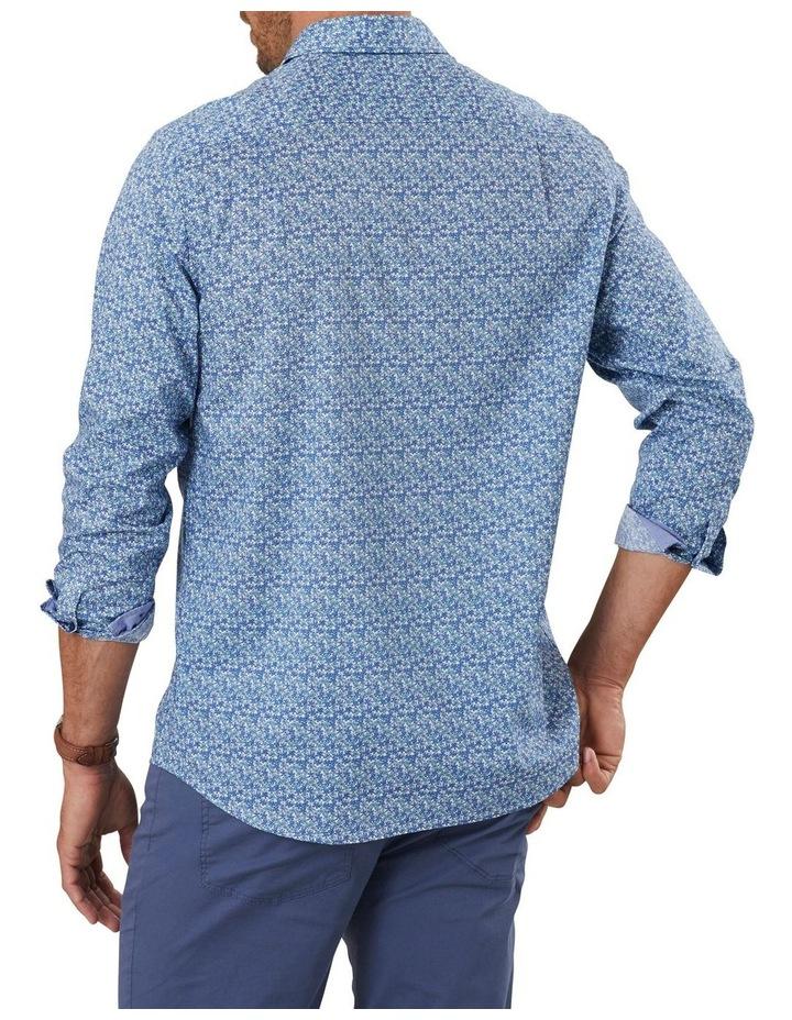 Smart Stripe Floral Print Long Sleeve Shirt image 2