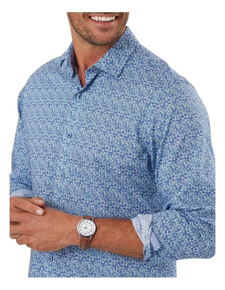 Smart Stripe Floral Print Long Sleeve Shirt image 3