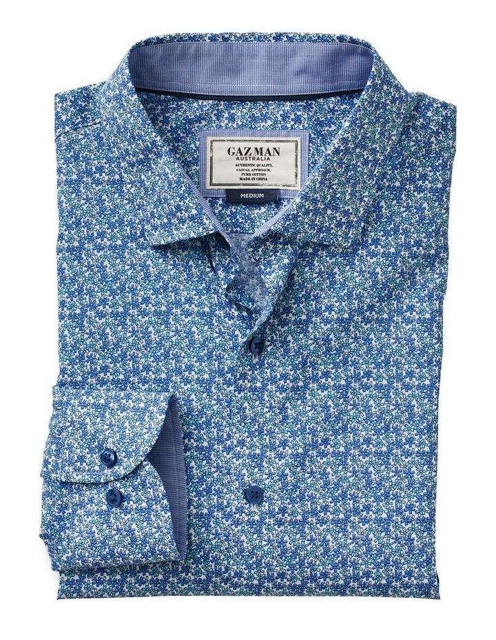 Smart Stripe Floral Print Long Sleeve Shirt image 4