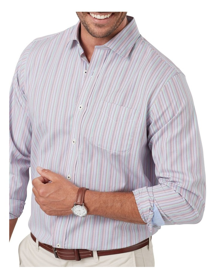Easy Care Multi Stripe Long Sleeve Shirt image 3