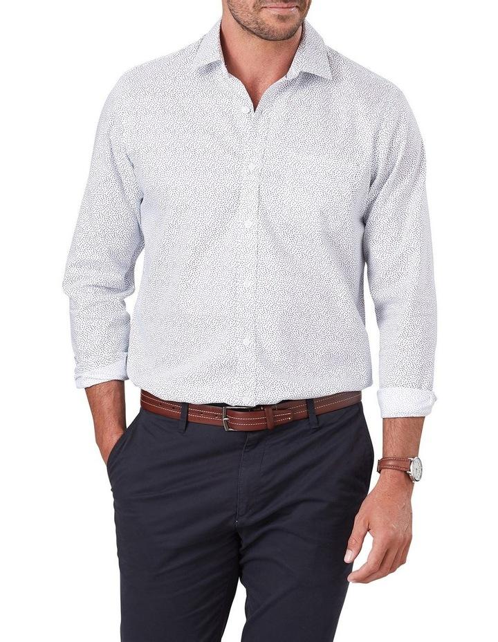Twill Leaf Print Long Sleeve Shirt image 1