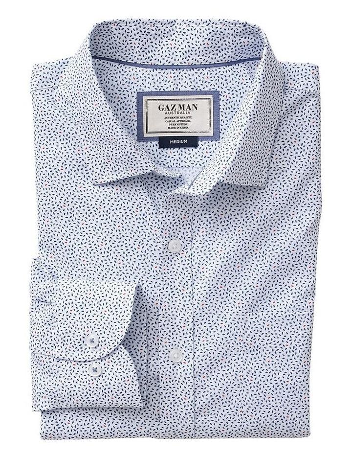 Twill Leaf Print Long Sleeve Shirt image 4