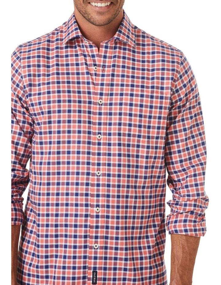 Easycare Oxford Check Long Sleeve Shirt image 3