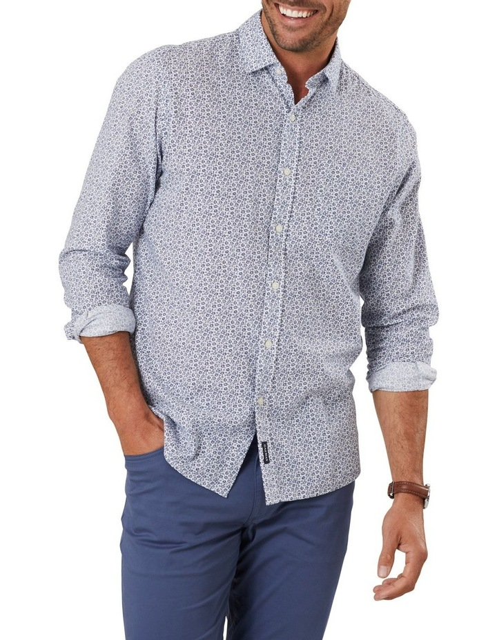 Cotton Linen Floral Print Long Sleeve Shirt image 1