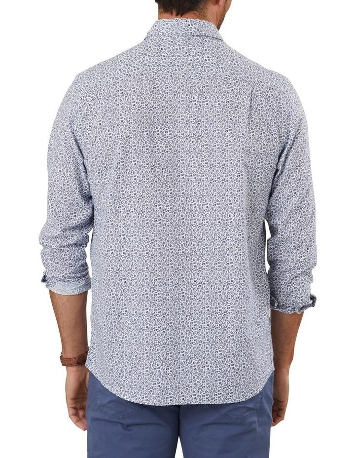 Cotton Linen Floral Print Long Sleeve Shirt image 2