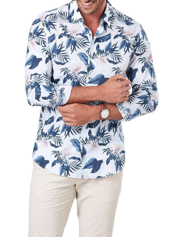 Madras Floral Print Long Sleeve Shirt image 1