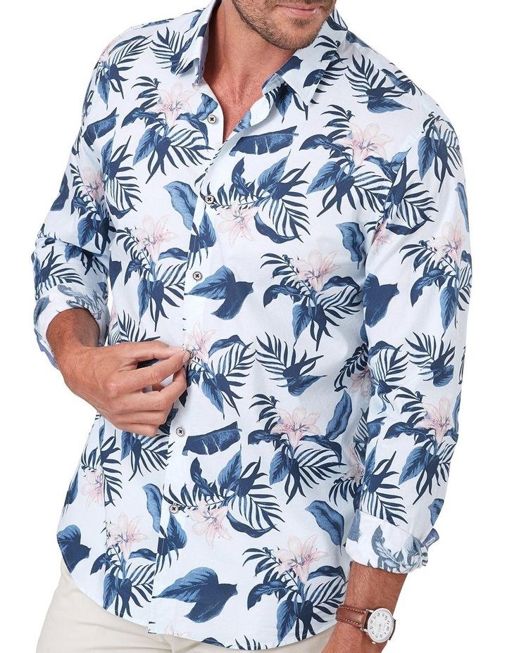 Madras Floral Print Long Sleeve Shirt image 3