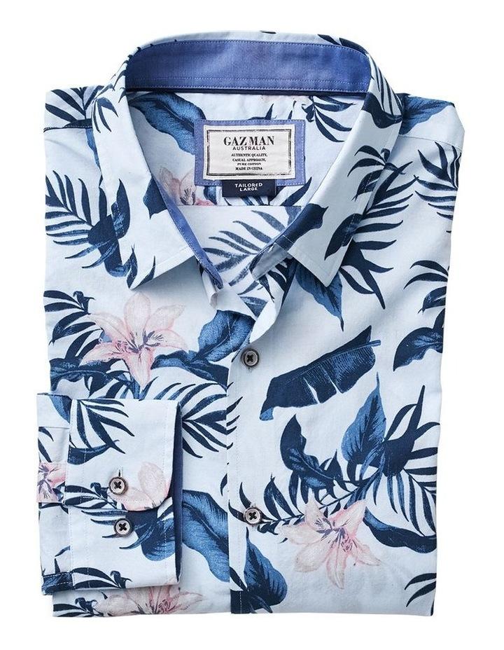 Madras Floral Print Long Sleeve Shirt image 4