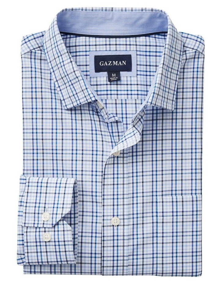 Easy Care Varigated Check Long Sleeve Shirt image 4