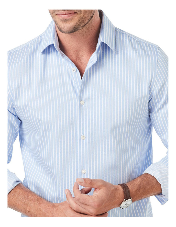 Tailored Classic Dobby Stripe Long Sleeve Shirt image 3