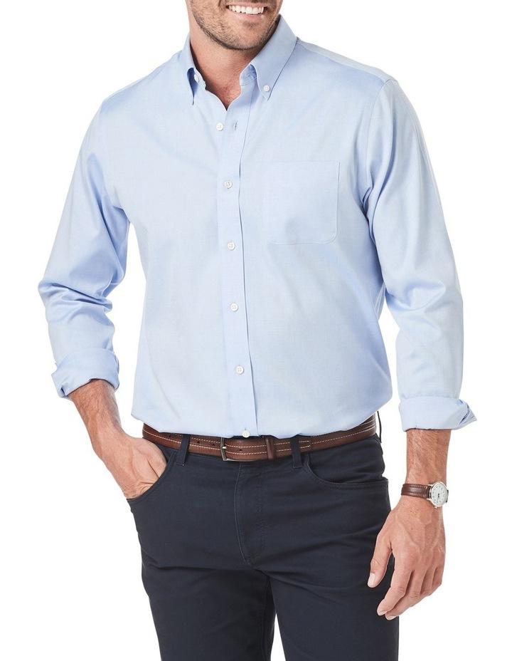 Wrinkle Free Plain Oxford Long Sleeve Shirt image 1