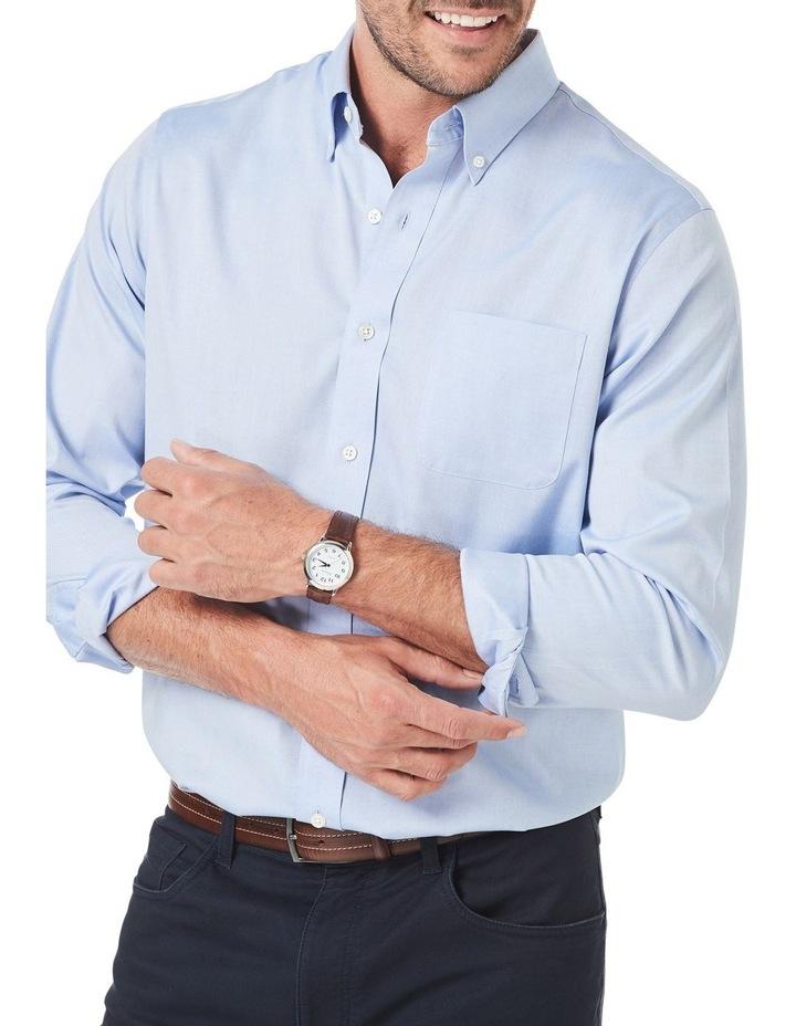 Wrinkle Free Plain Oxford Long Sleeve Shirt image 3