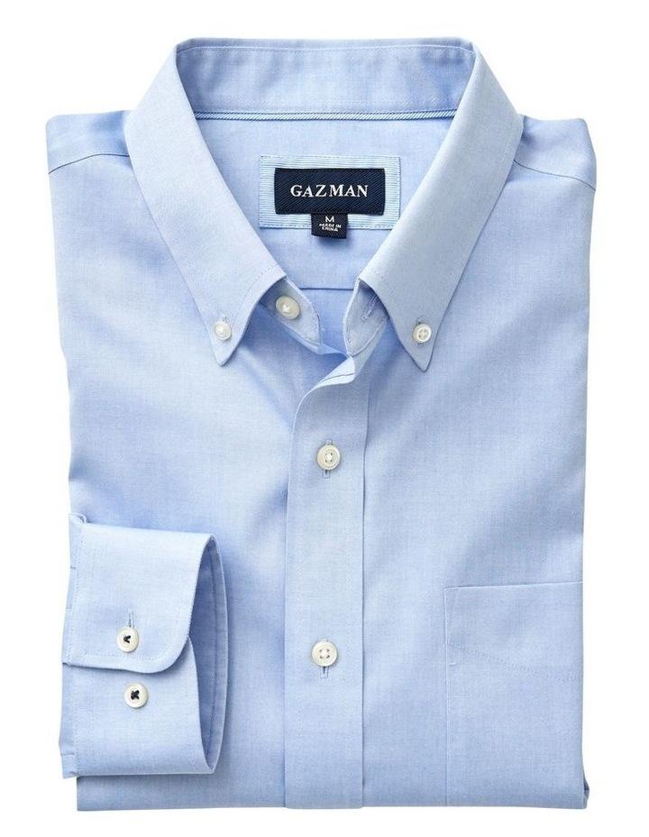 Wrinkle Free Plain Oxford Long Sleeve Shirt image 4