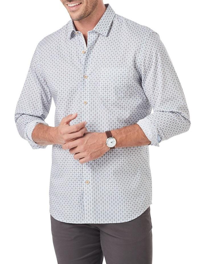 Tailored Smart Geo Tile Print Long Sleeve Shirt image 1