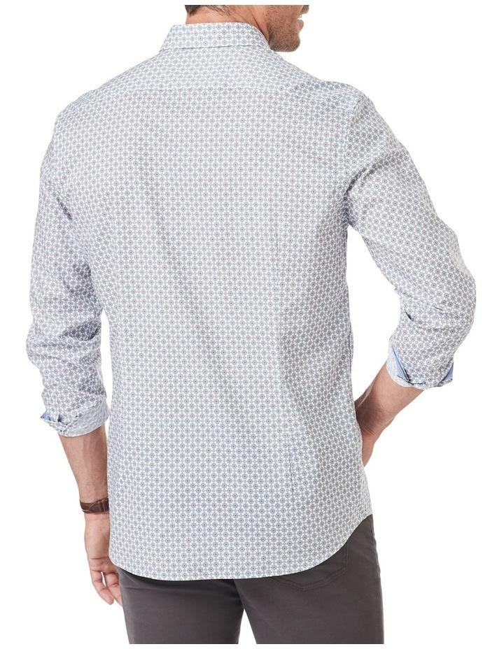 Tailored Smart Geo Tile Print Long Sleeve Shirt image 2