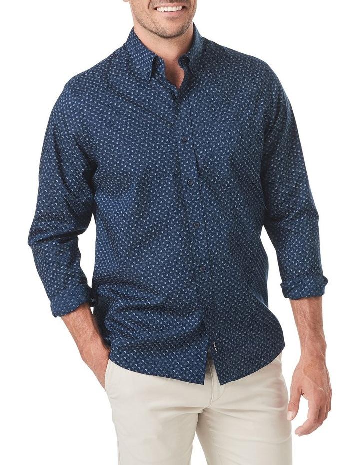 Smart Geo Print Long Sleeve Shirt image 1