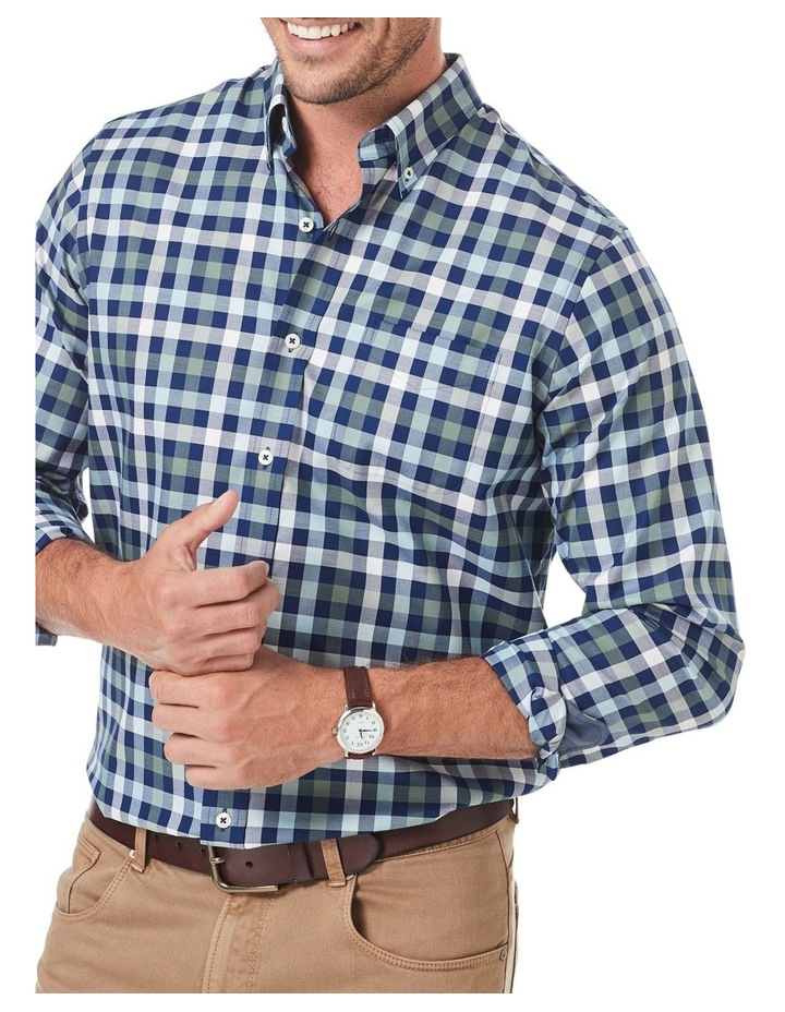 Easy Care Twill Box Check Long Sleeve Shirt image 3