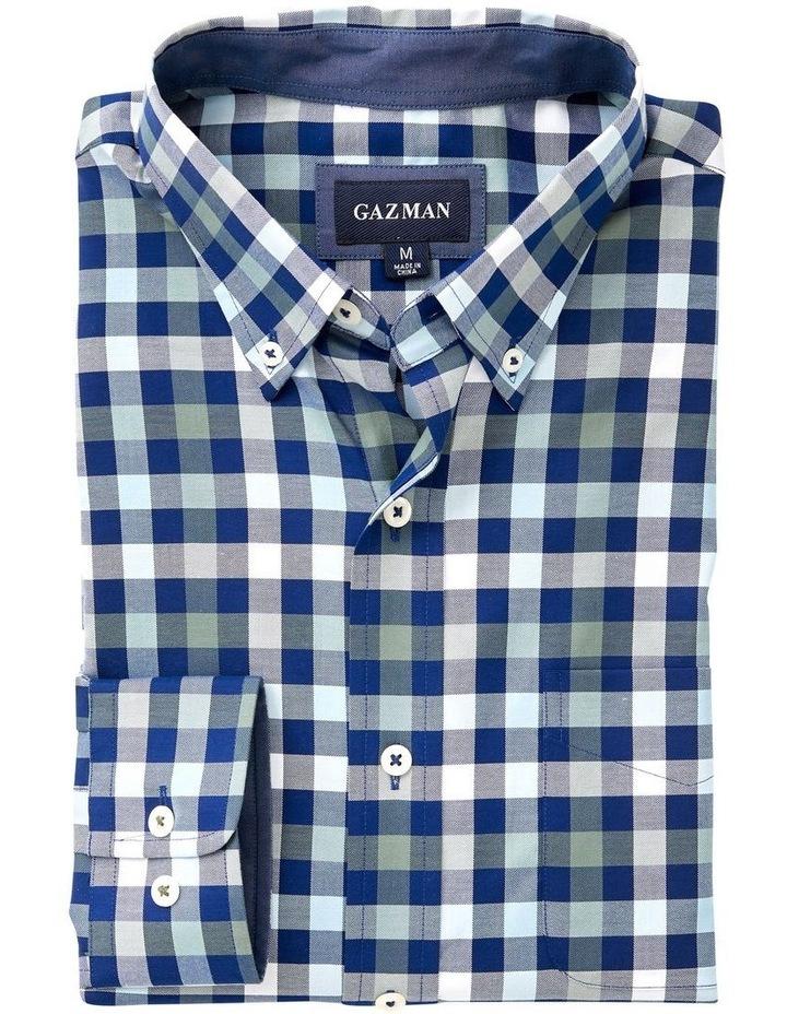 Easy Care Twill Box Check Long Sleeve Shirt image 4