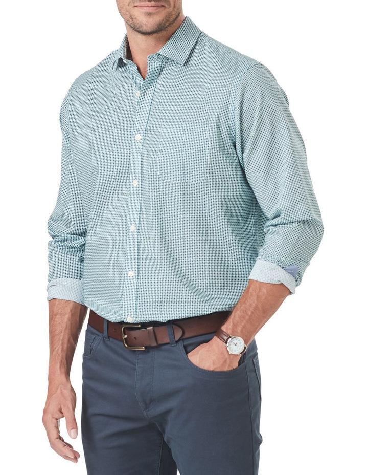 Smart Square Geo Print Long Sleeve Shirt image 1