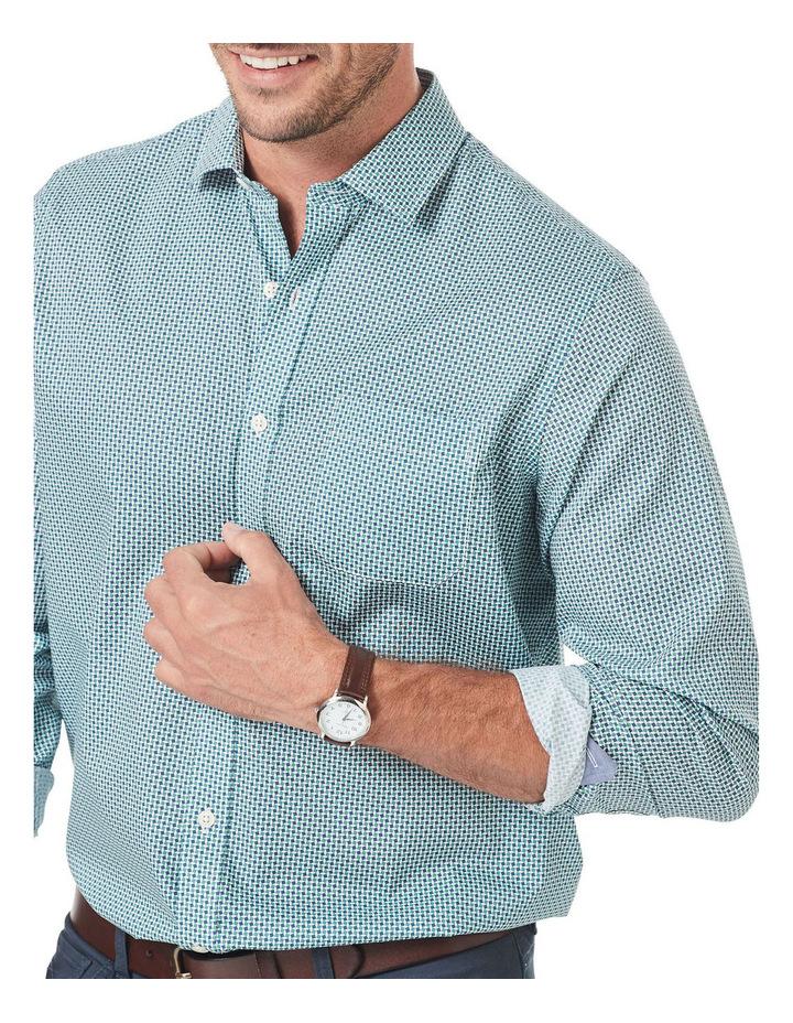 Smart Square Geo Print Long Sleeve Shirt image 3