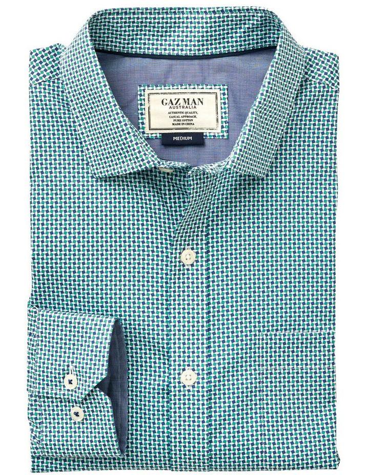 Smart Square Geo Print Long Sleeve Shirt image 4
