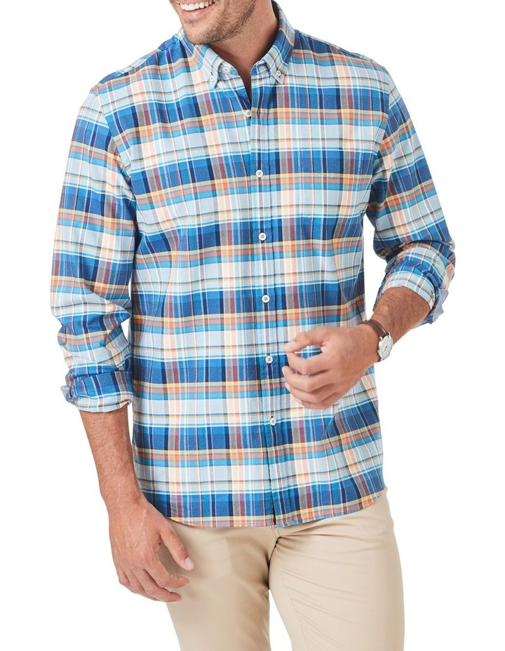 Tailored Casual Oxford Check Long Sleeve Shirt image 1