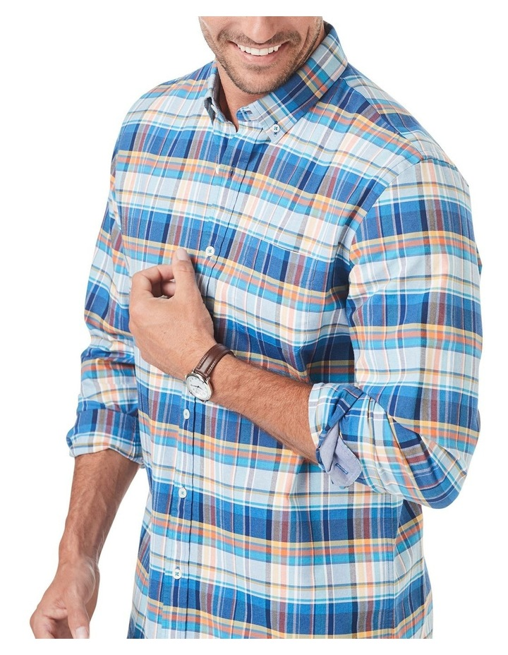Tailored Casual Oxford Check Long Sleeve Shirt image 3