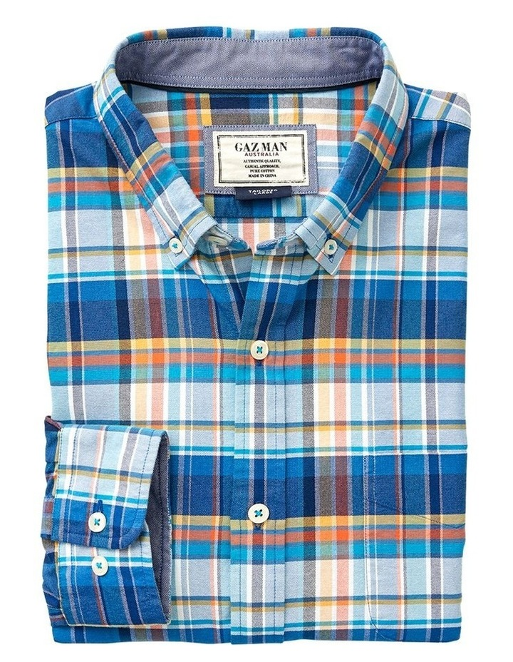 Tailored Casual Oxford Check Long Sleeve Shirt image 4