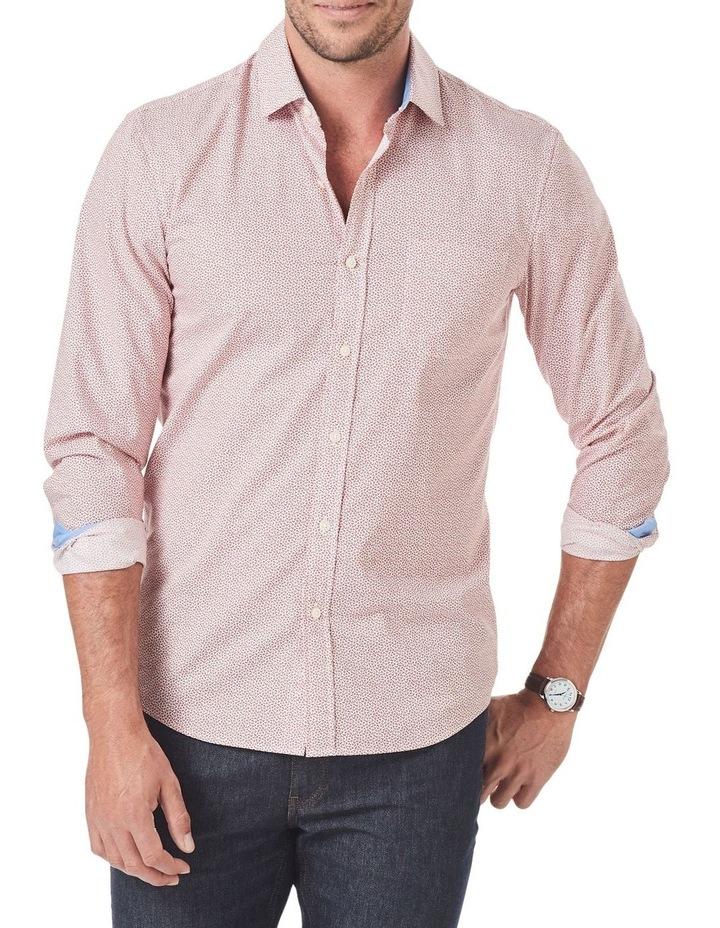 Tailored Smart Leaf Print Long Sleeve Shirt image 1