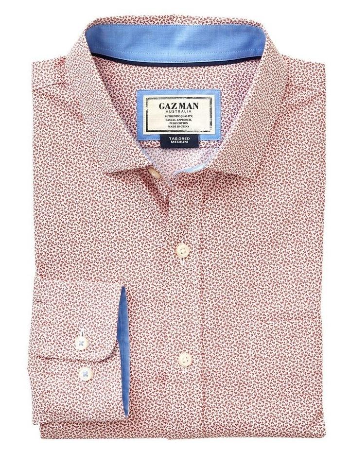Tailored Smart Leaf Print Long Sleeve Shirt image 4
