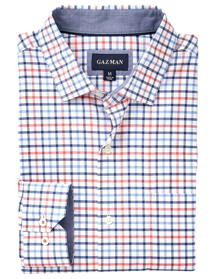 Easy Care Twill Multi Check Long Sleeve Shirt image 4