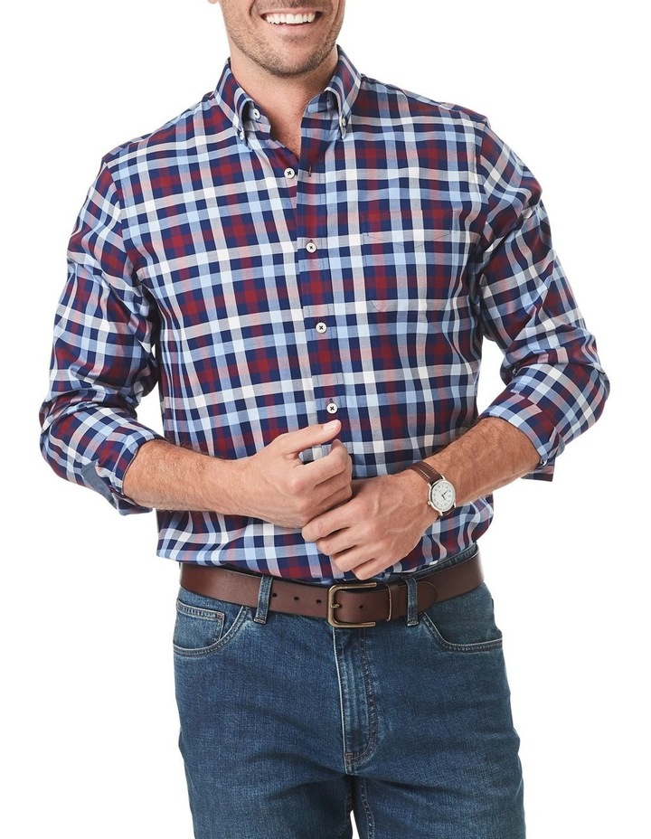 Easy Care Twill Box Check Long Sleeve Shirt image 1