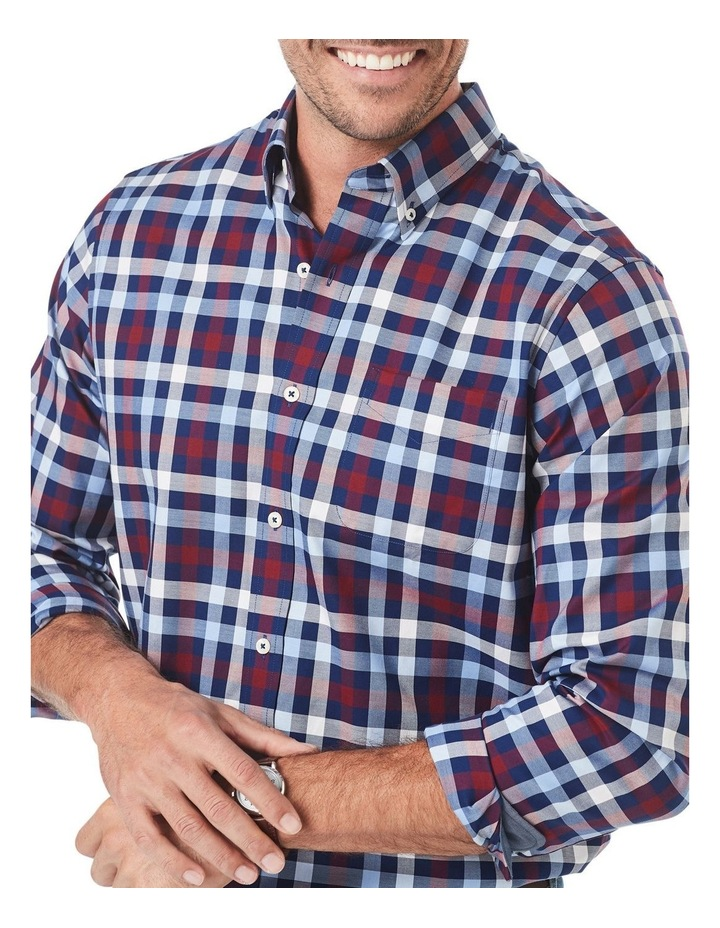 Easy Care Twill Box Check Long Sleeve Shirt image 3
