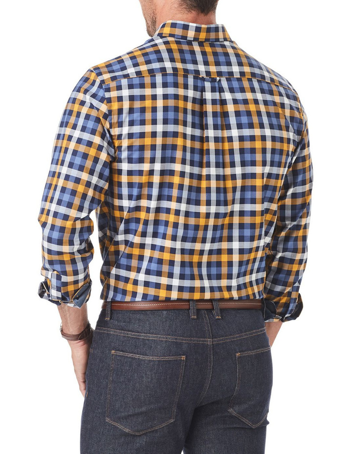 Easy Care Twill Box Check Long Sleeve Shirt image 2