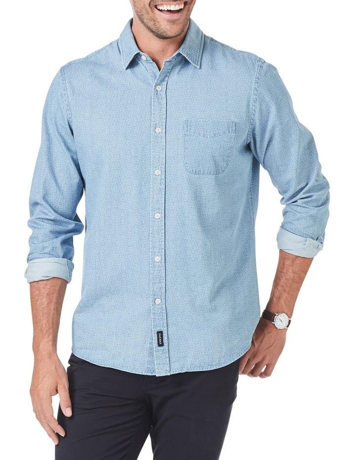 Casual Print Denim Long Sleeve Shirt image 1