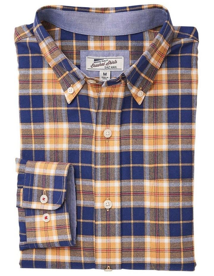 Brushed Twill Plaid Check Long Sleeve Shirt image 4