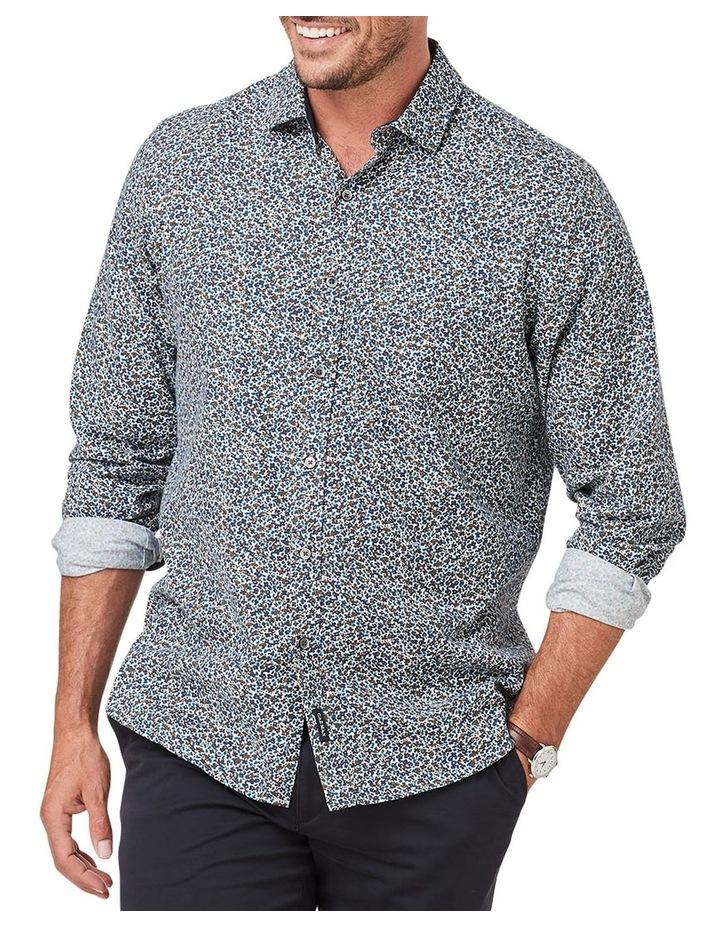 Brushed Melange Floral Print Long Sleeve Shirt image 1