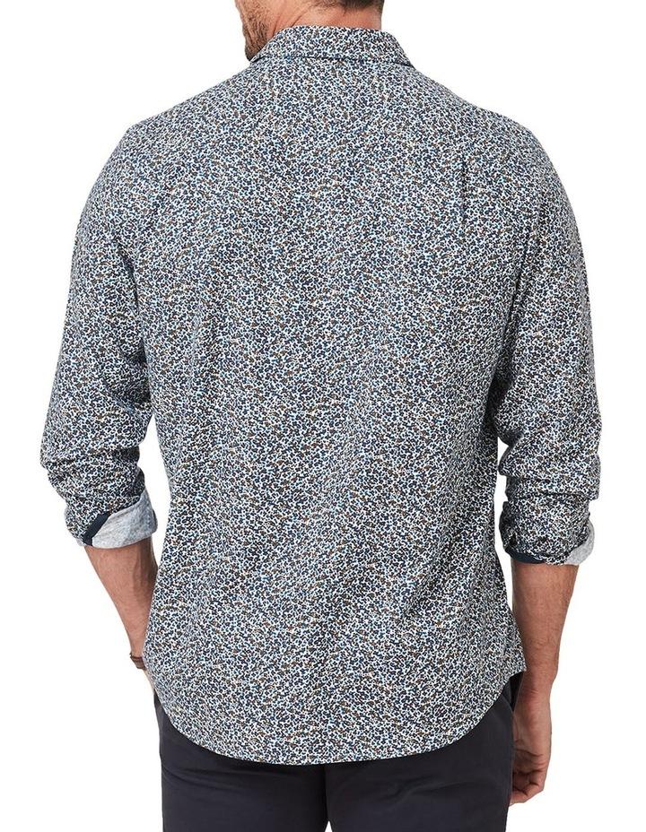 Brushed Melange Floral Print Long Sleeve Shirt image 2