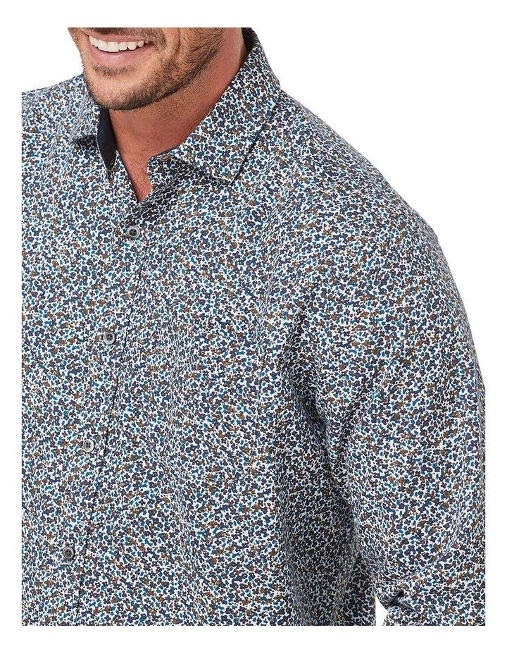 Brushed Melange Floral Print Long Sleeve Shirt image 3