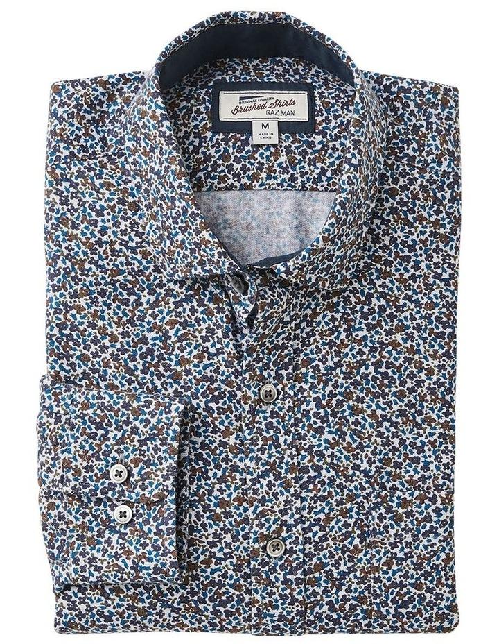 Brushed Melange Floral Print Long Sleeve Shirt image 4