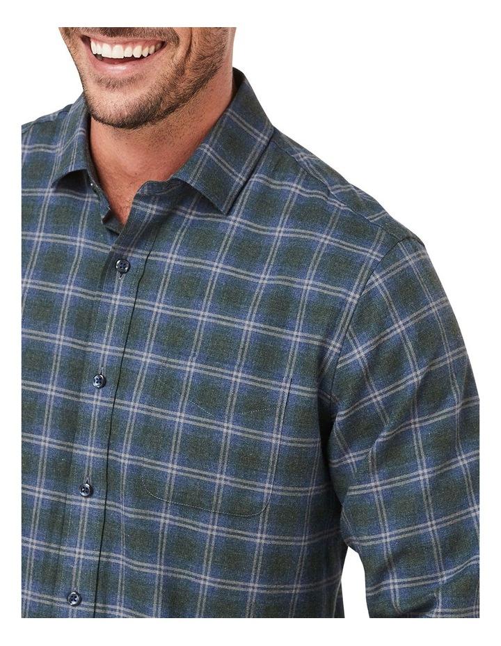 Brushed Twill Melange Check Long Sleeve Shirt image 3
