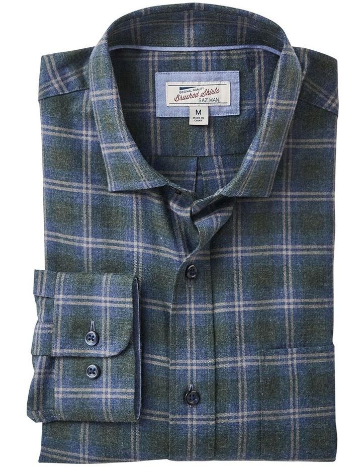 Brushed Twill Melange Check Long Sleeve Shirt image 4
