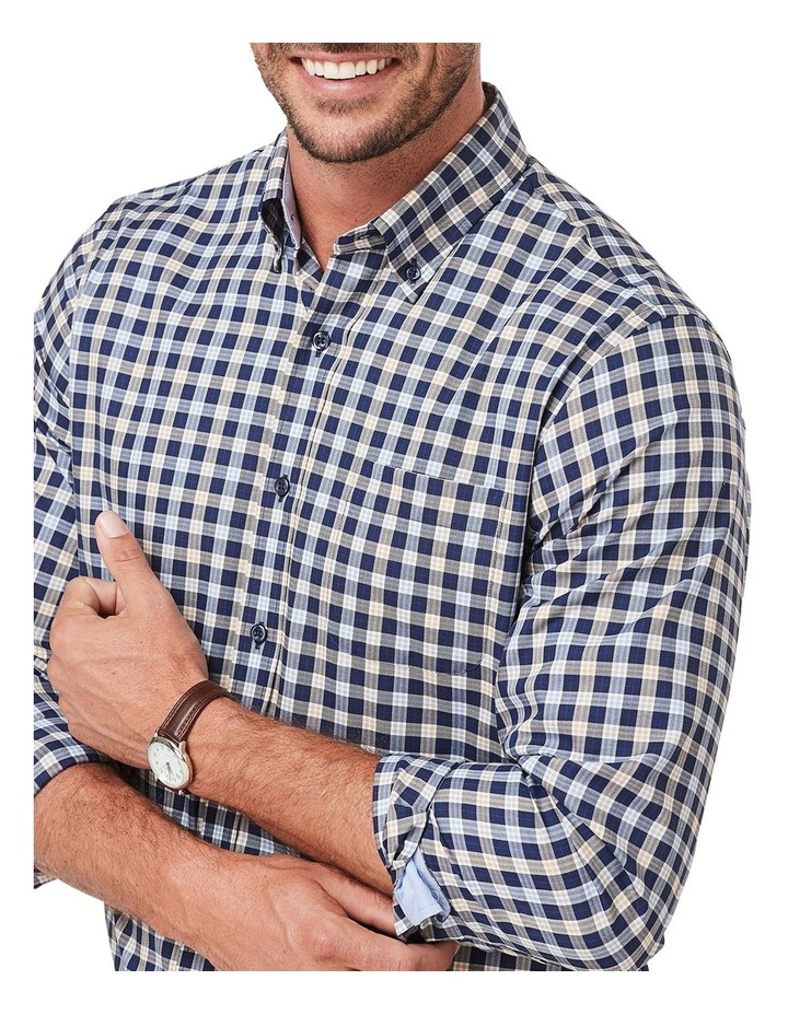 Easy Care Twill Check Long Sleeve Shirt image 3